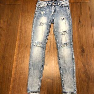 Harlow Skinny Distressed Jeans sz 27